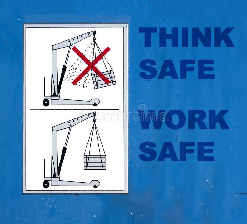 Sicherheit am Arbeitsplatz stockfoto