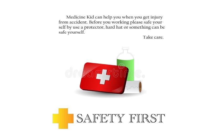 Sicherheit erste stock abbildung