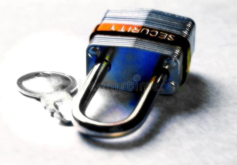 Sicherheits-Auflage-Verriegelung lizenzfreies stockfoto