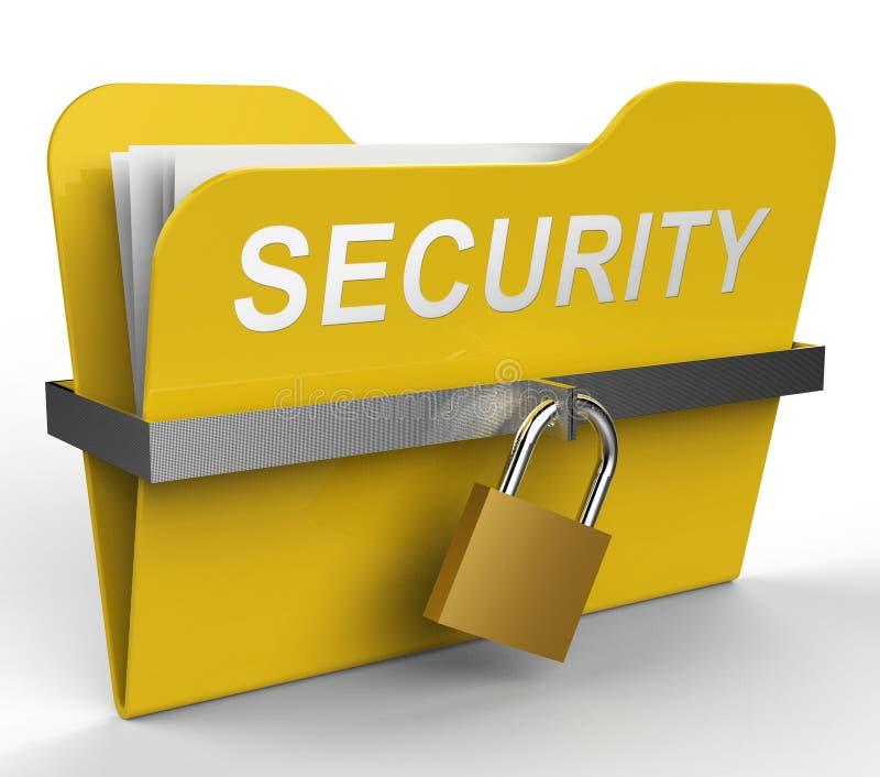 Sicherheits-Datei bedeutet Passwort geschützte Wiedergabe 3d lizenzfreie abbildung