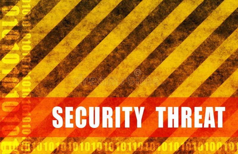 Sicherheits-Drohung lizenzfreie abbildung