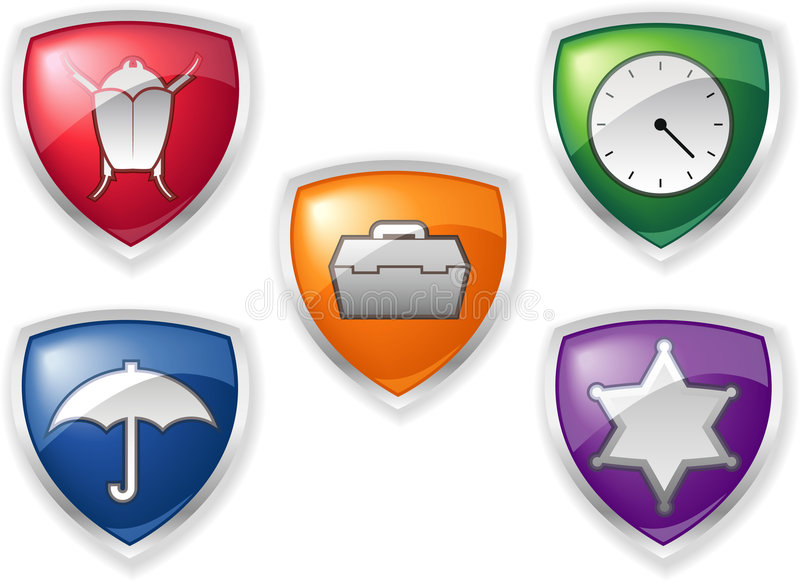 Sicherheits-Ikonen lizenzfreie abbildung