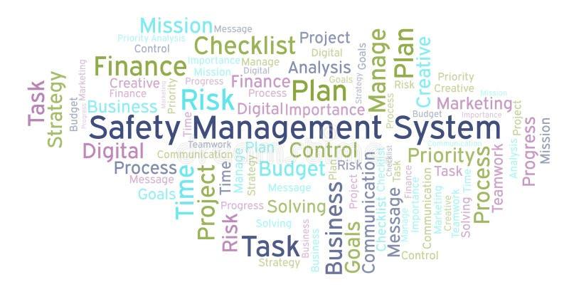 Sicherheits-Management-Systemwortwolke, gemacht mit nur Text vektor abbildung