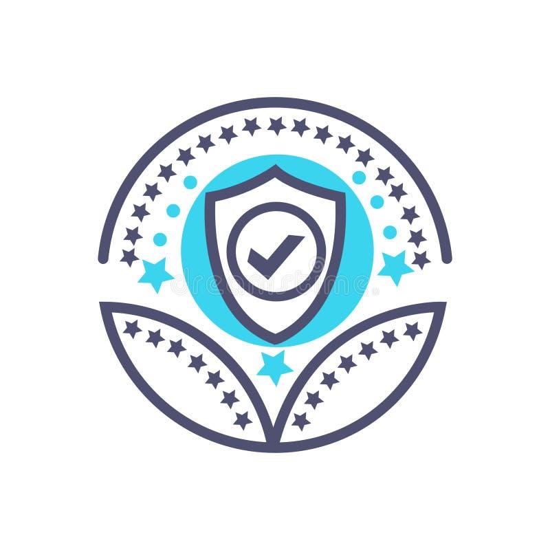Sicherheits- oder Schutzpreisikonenvektor-Schutzzeichen stock abbildung