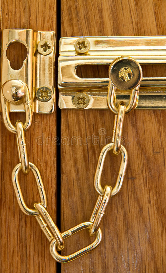 Sicherheits-Tür-Kette lizenzfreies stockfoto