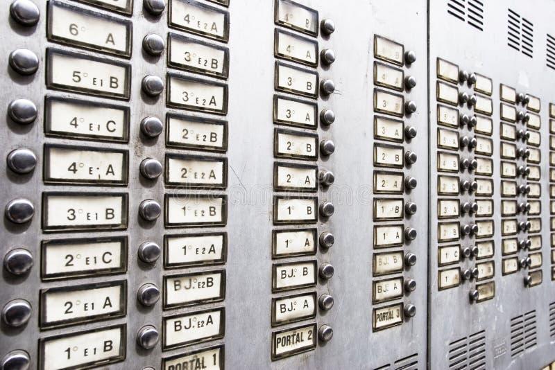 Sicherheits-Wechselsprechanlage stockbilder