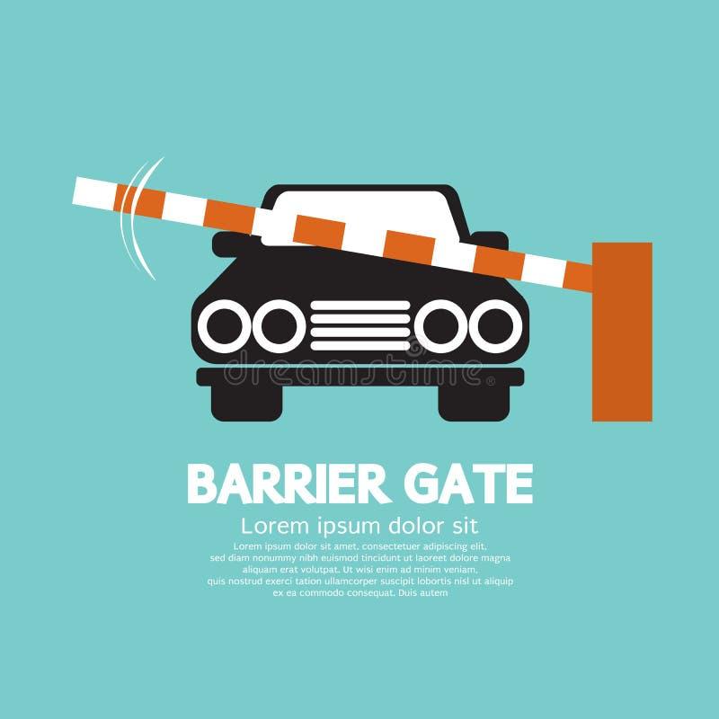 Sicherheitsbarriere-Tor geschlossen für Fahrzeug stock abbildung