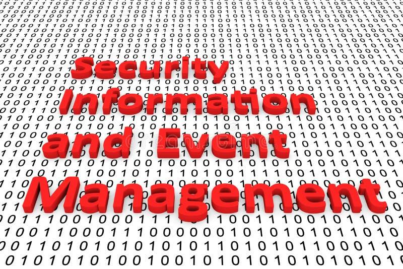 Sicherheitsinformationen und -Veranstaltungsmanagement lizenzfreie abbildung