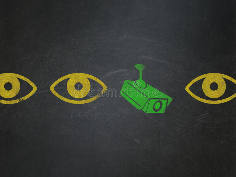 Sicherheitskonzept: cctv-Kameraikone auf Schulbehörde lizenzfreies stockbild