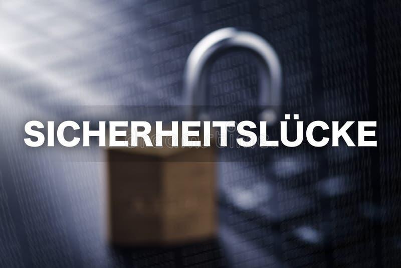 Sicherheitslücke - παραβίαση της ασφαλείας στοκ φωτογραφίες