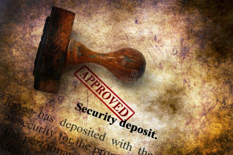 Sicherheitsleistung - anerkanntes Schmutzkonzept lizenzfreies stockbild