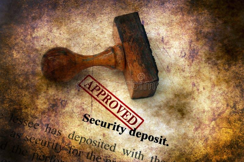 Sicherheitsleistung - anerkanntes Schmutzkonzept lizenzfreie stockfotos