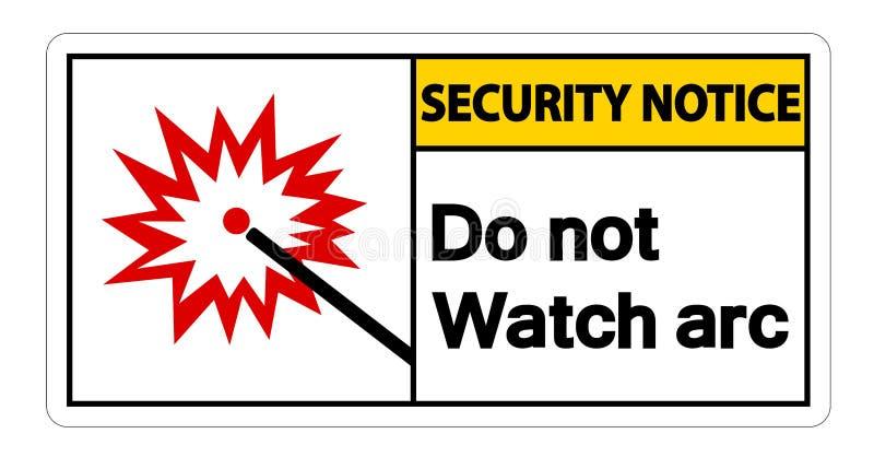 Sicherheitsmitteilung passen nicht auf, einen Bogen zu bilden Symbol-Zeichen auf wei?em Hintergrund, Vektorillustration lizenzfreie abbildung