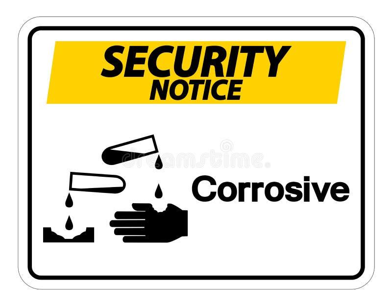 Sicherheitsmitteilung ?tzendes Symbol-Zeichen auf wei?em Hintergrund, Vektorillustration stock abbildung