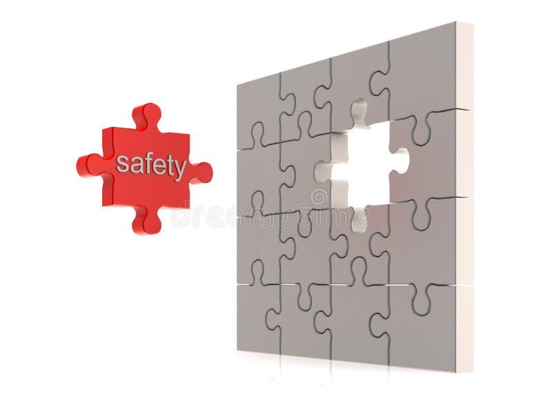 Sicherheitspuzzlespielkonzept lizenzfreie abbildung