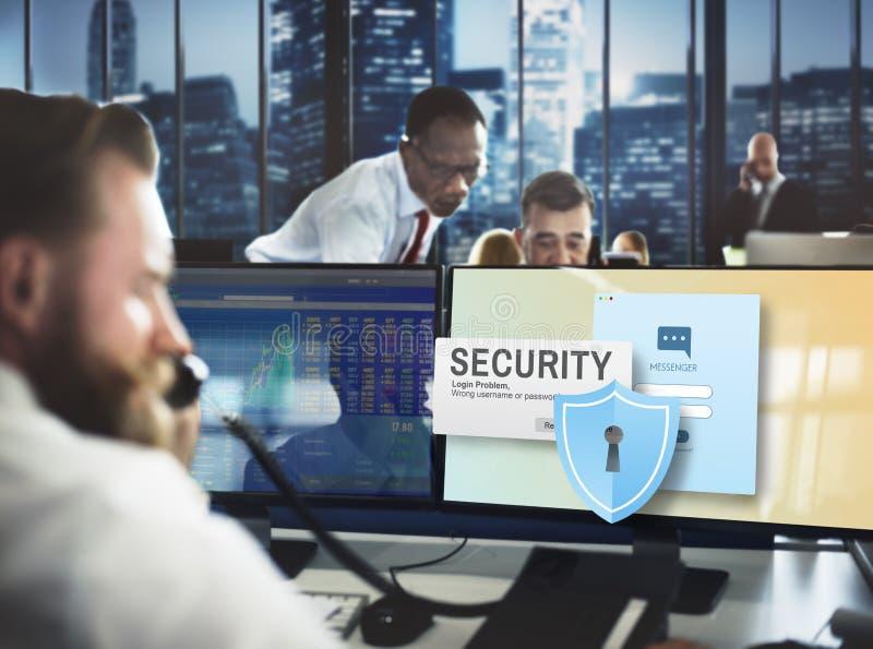 Sicherheitssystem-Zugangs-Passwort-Datennetz-Überwachung Concep stockbild