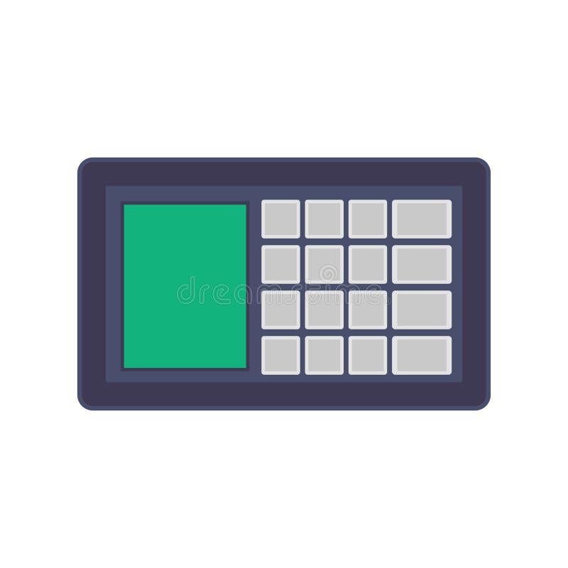 Sicherheitssystemvektorikonen-Konzepttechnologie Digital-Schutzsteuerhaus Schutzgebäude-Passwortnetz stock abbildung