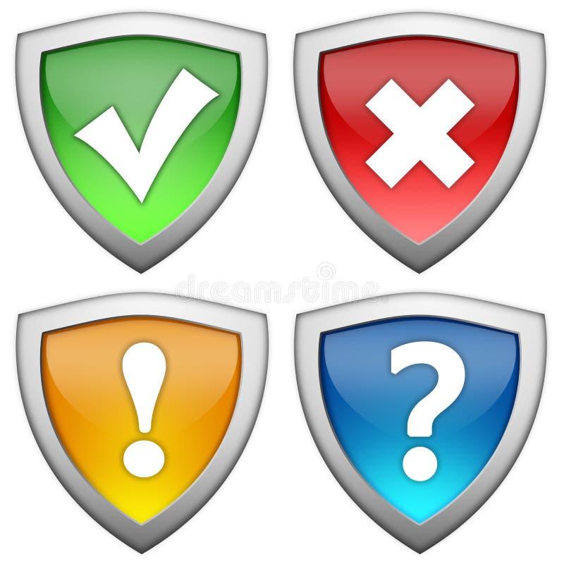 Sicherheitszeichen lizenzfreie abbildung