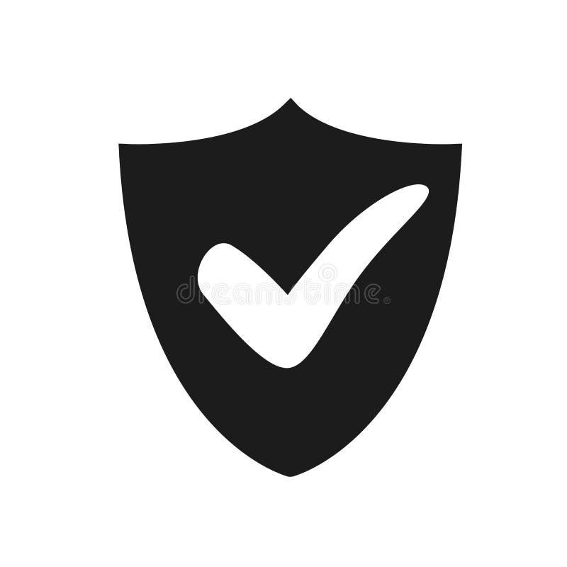 Sicherheitszustimmungs-Kontrollikone Digital-Schutz und Sicherheitsdatenkonzept – Vektor für Vorrat vektor abbildung