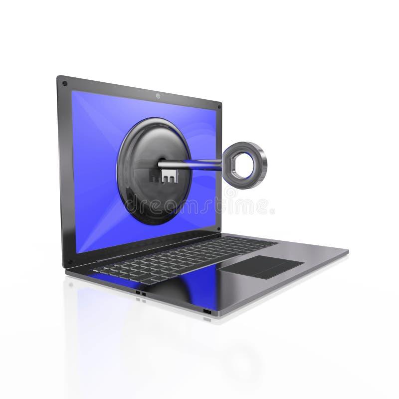 Sichern Sie Computer-Datenzugriff-Konzept lizenzfreie stockfotos