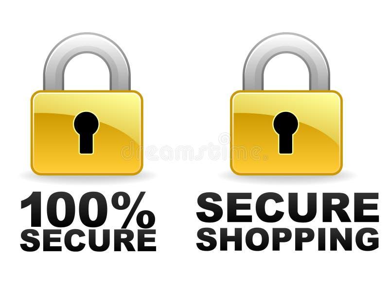 Sichern Sie Web-Fahnen Lizenzfreie Stockfotos