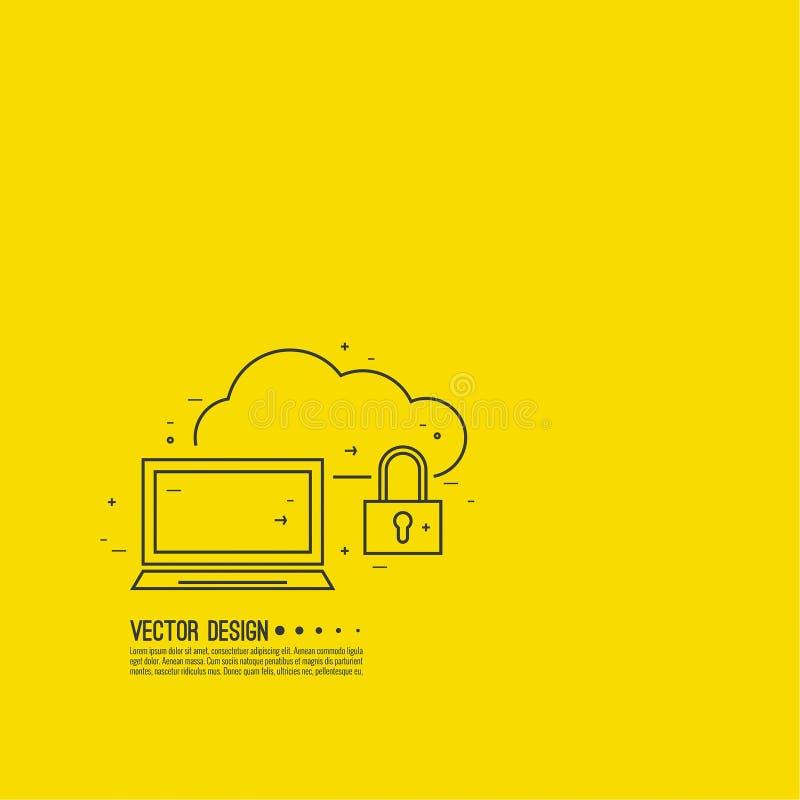 Sichern Sie Wolkenservice vektor abbildung