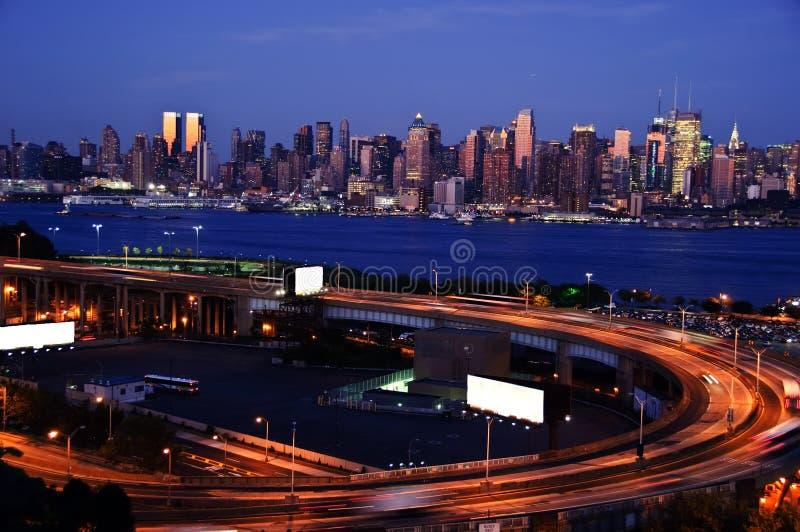 Sicherung von Midtown New York, Anzeigeplatz stockfotografie