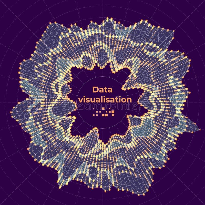 Sichtbarmachungskonzept der komplexen Daten Vektorabstrakte Abbildung stock abbildung