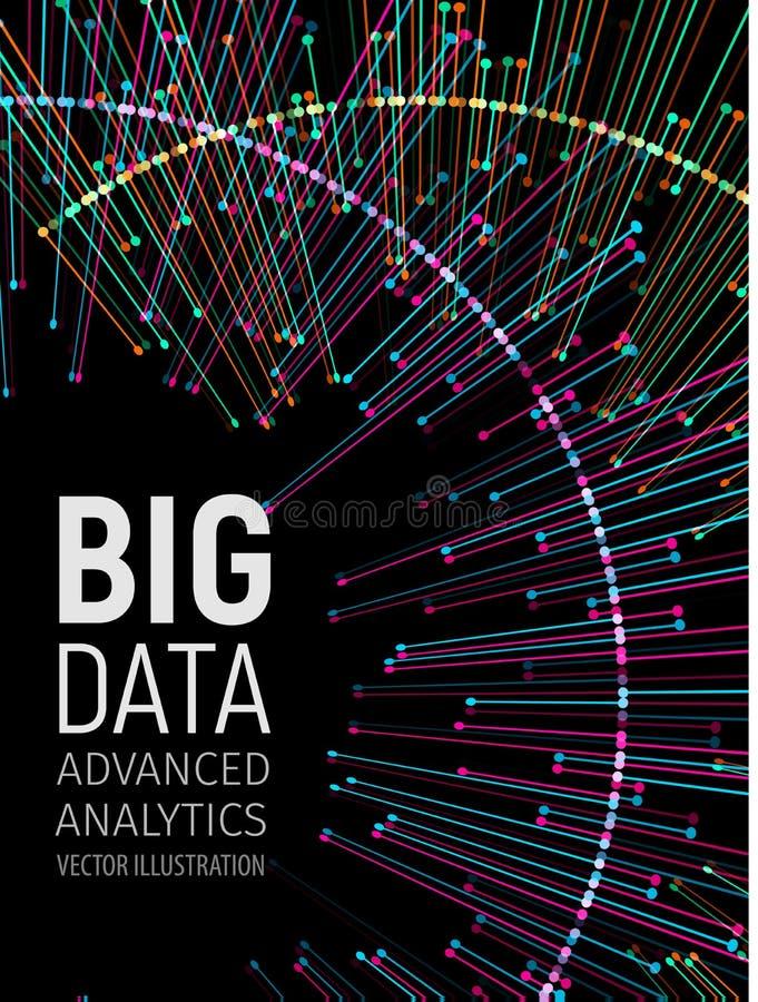 Sichtfractals energie der großen Daten Technologienetz infographic Informationsanalytikdesign Auch im corel abgehobenen Betrag vektor abbildung