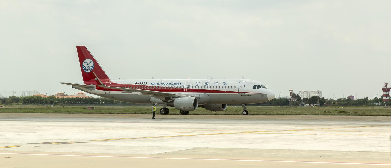Sichuan Airlines Kina royaltyfri foto