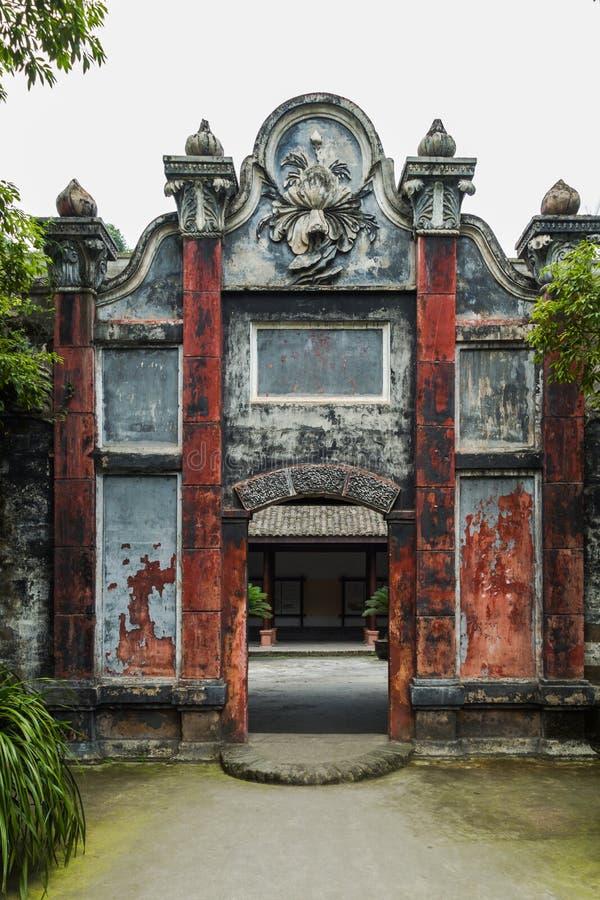 Sichuan AnRen αρχαία κτήρια στοκ εικόνες