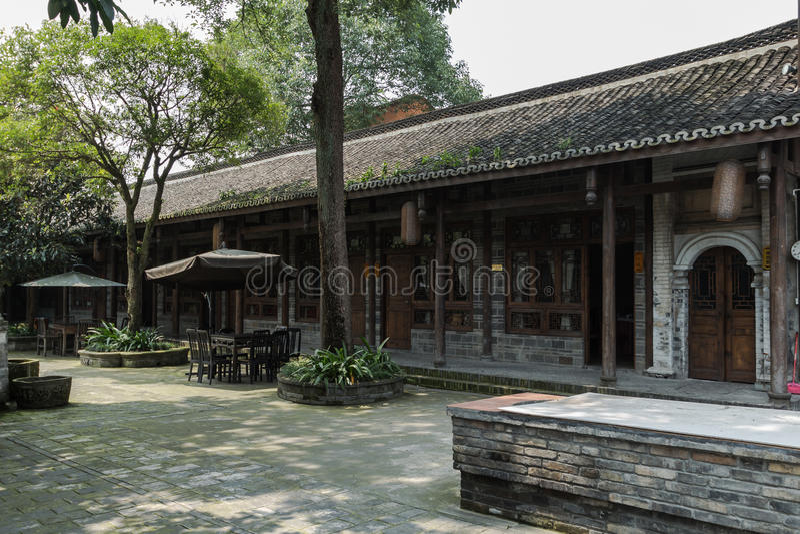 Sichuan AnRen αρχαία κτήρια στοκ εικόνα