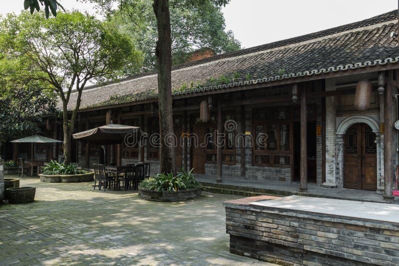 Sichuan AnRen forntida byggnader fotografering för bildbyråer