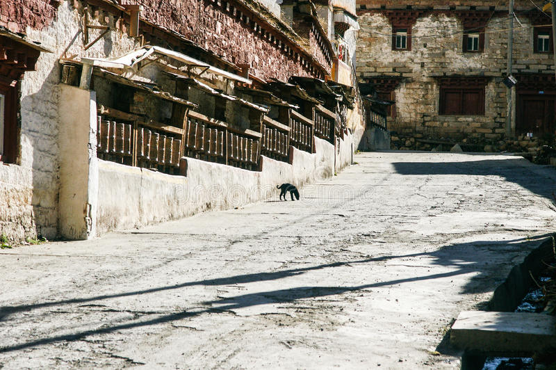 Sichuan do templo do tibetano de China fotografia de stock royalty free