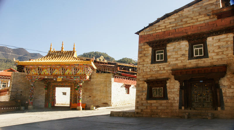 Sichuan do templo do tibetano de China fotos de stock
