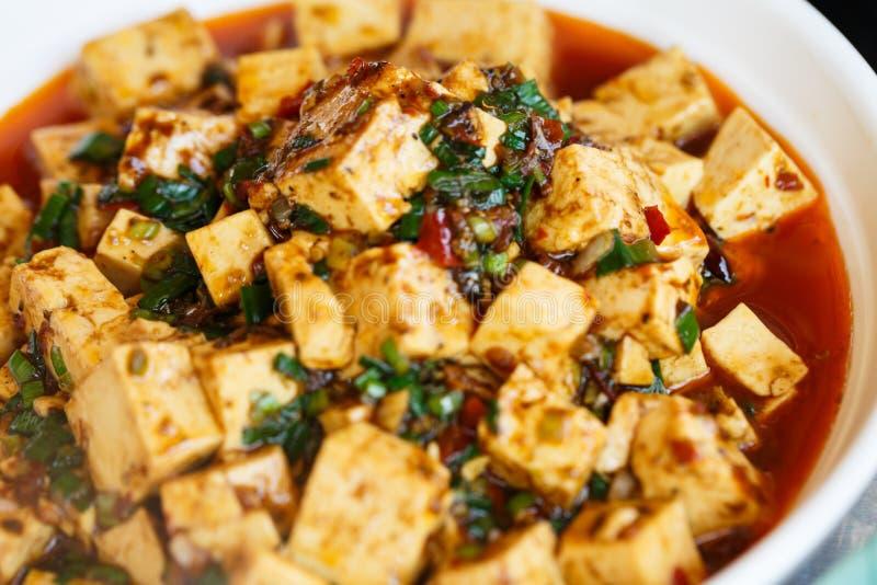 Sichuan mapo tofu, chiński jedzenie zdjęcie royalty free