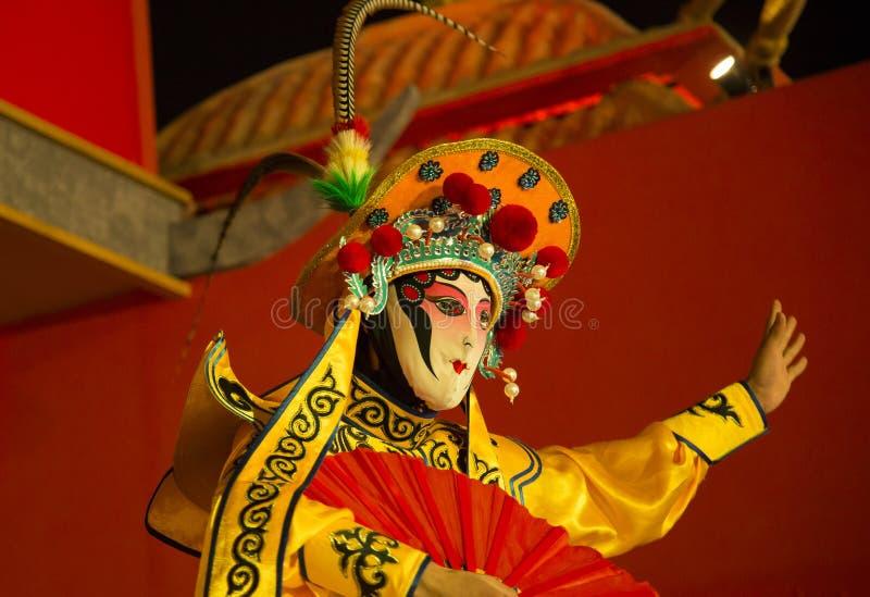 Sichuan opera odmienianie twarz Sichuan opera chińska taniec twarzy zmiana obraz royalty free