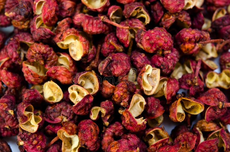 Sichuan pepper. Cooking ingredient series sichuan pepper. for adv etc. of restaurant,grocery,and others stock photo