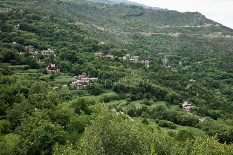 Sichuan-Provinz chinesisches tibetanisches Dorf stockbilder