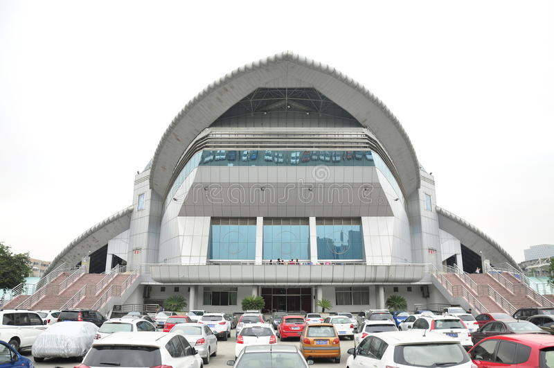 Sichuan uniwersyteta sala gimnastyczna Chiny obrazy stock
