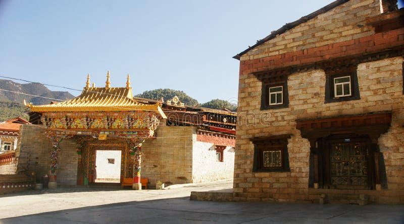 Sichuan van de Tibetaanse tempel van China stock foto's