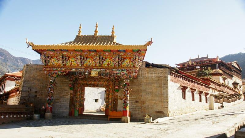 Sichuan van de Tibetaanse tempel van China royalty-vrije stock afbeeldingen
