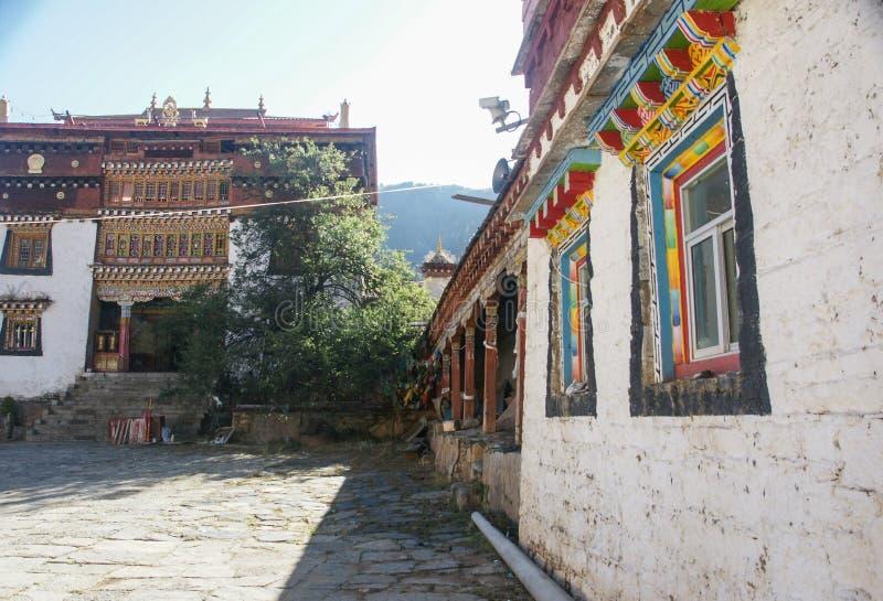 Sichuan van de Tibetaanse tempel van China stock afbeeldingen