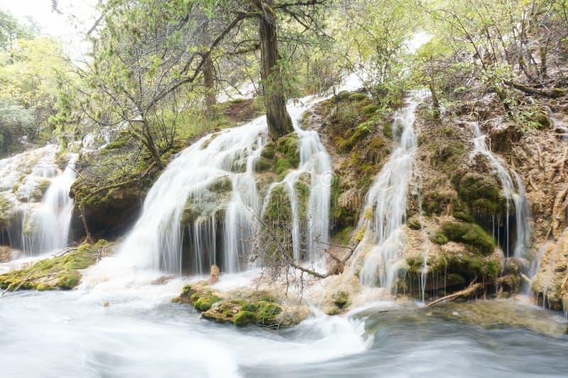 Sichuan Waterfalls China royalty free stock photo