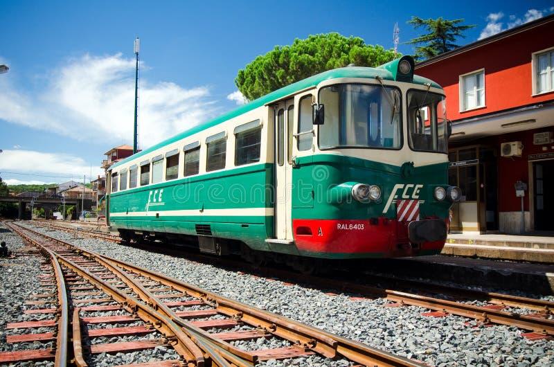 Sicilië, Ferrovia Circumetnea royalty-vrije stock afbeelding