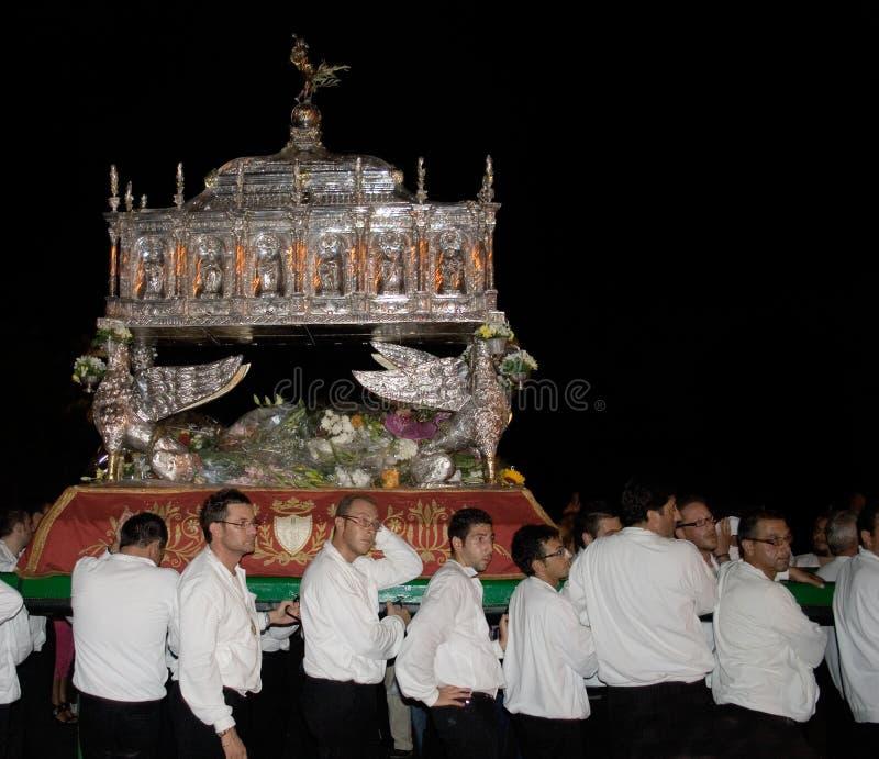 Sicilië-Noto-feest van San Corrado stock afbeelding