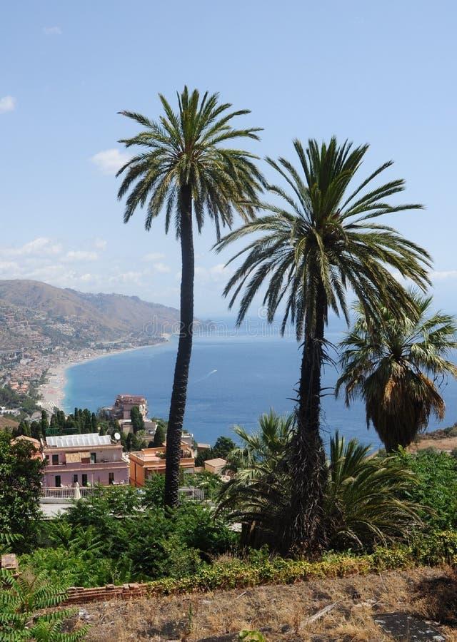 Sicilia Taormina imagenes de archivo