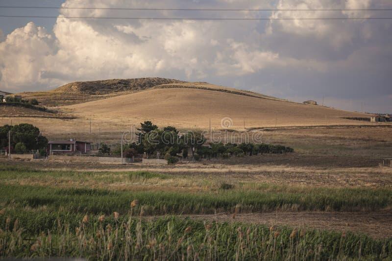 Sicilian bakland royaltyfri bild