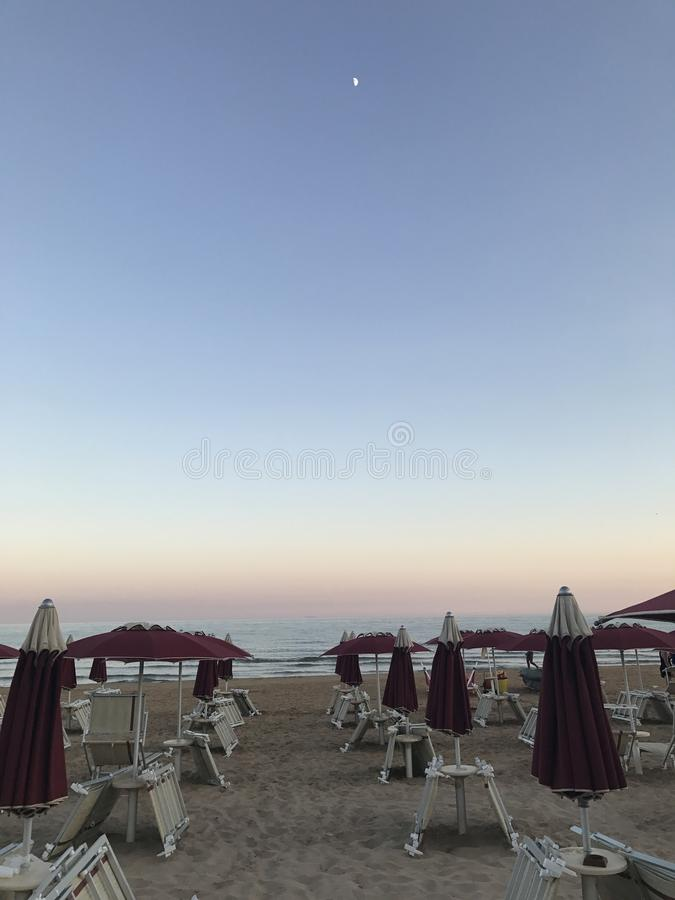 A Sicilian Beach at Sunset royalty free stock image