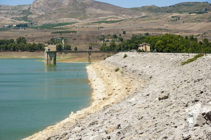 Sicilian lake royalty free stock photo